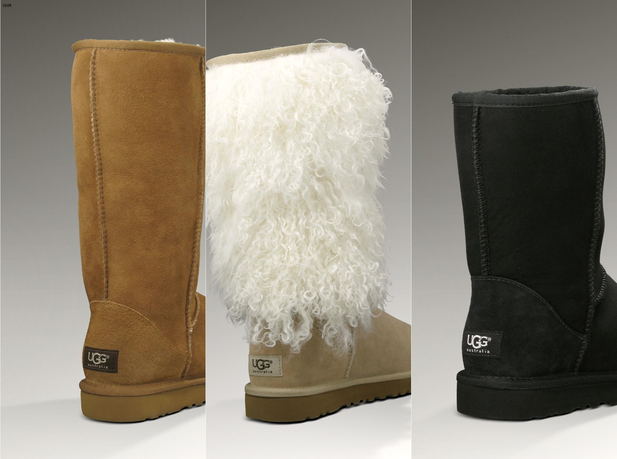 que buen look marca famosa precios de liquidación botas ugg con cuña interior
